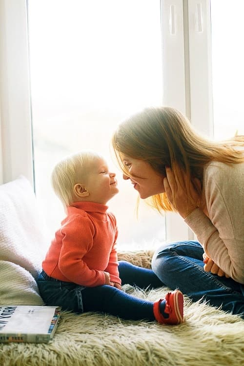 Love between baby and mother